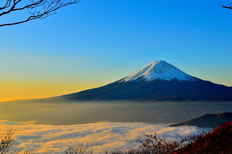 銭湯には富士山と牛乳