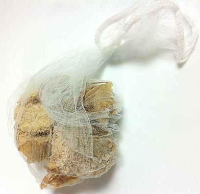 カチコチの冷凍生姜